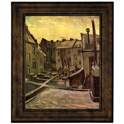'Backyards of Old Houses in Antwerp in the Snow' by Vincent van Gogh Graphic Art Print on Canvas Size: 12.75