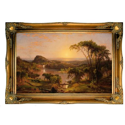 'Summer; Lake Ontario 1857' Framed Graphic Art Print on Canvas