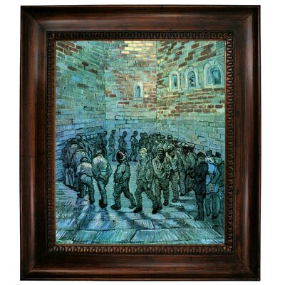 'Prisoners Exercising After Dore' by Vincent Van Gogh Framed Graphic Art Print on Canvas Size: 12.75