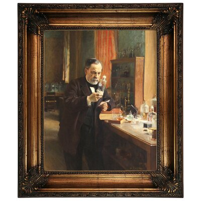 'Portrait of Louis Pasteur in his Laboratory 1885' Framed Graphic Art Print on Canvas Size: 26.25