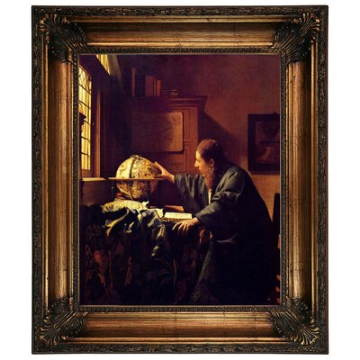 'The astronomer' by Johannes Vermeer Graphic Art Print on Canvas Size: 26.25