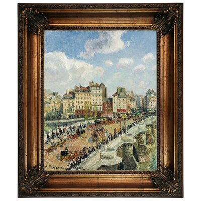 'The Pont-Neuf 1902' by Camille Pissarro Framed Graphic Art Print on Canvas Size: 26.25