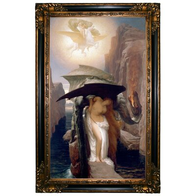 'Perseus and Andromeda 1891' Framed Graphic Art Print on Canvas Size: 37.25