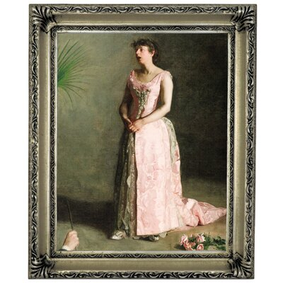 'The Concert Singer 1890' Framed Graphic Art Print on Canvas Size: 17