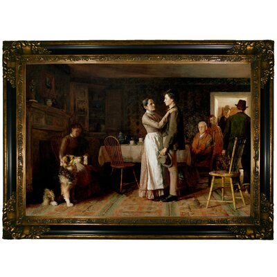 'Breaking Home Ties 1890' Framed Graphic Art Print on Canvas Size: 24.25