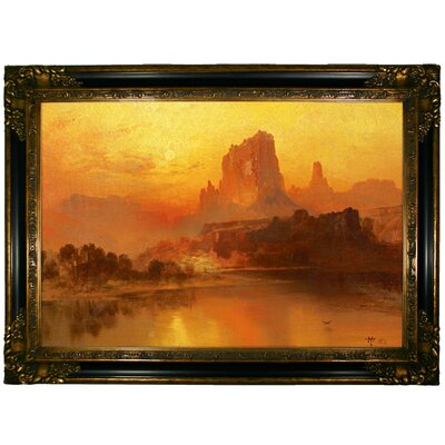 'The Golden Hour' Framed Graphic Art Print on Canvas Size: 24.25