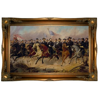 'Grant and His Generals 1865' Graphic Art Print on Canvas Size: 24.5