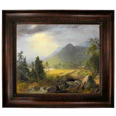 'The First Harvest in the Wilderness 1855' Framed Graphic Art Print on Canvas Size: 27