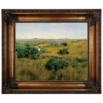 'Summer at Shinnecock Hills 1881' Framed Graphic Art Print on Canvas Size: 22.25
