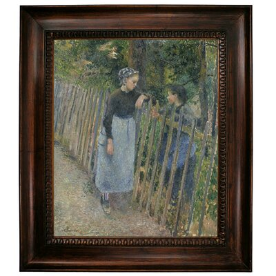 'Conversation 1881' Framed Graphic Art Print on Canvas Size: 31