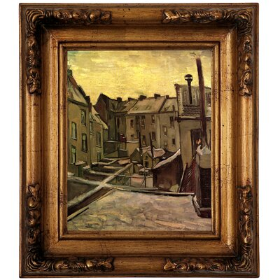 'Backyards of Old Houses in Antwerp in the Snow' by Vincent van Gogh Graphic Art Print on Canvas Size: 14.5