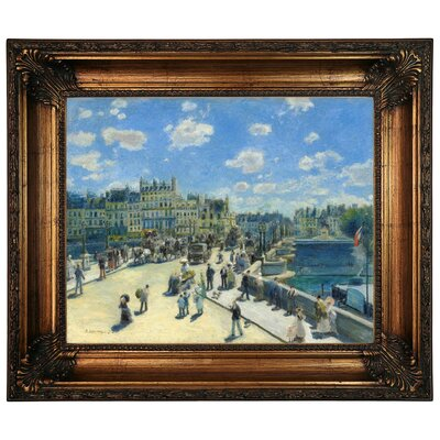 'Pont Neuf, Paris 1872' by Pierre-Auguste Renoir Framed Graphic Art Print on Canvas Size: 22.25
