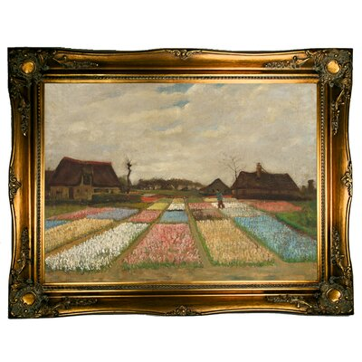 'Flower Beds in Holland/Bulb Fields 1883' by Vincent van Gogh Framed Graphic Art Print on Canvas Size: 24.5