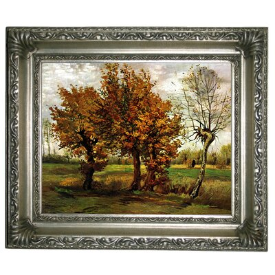'Autumn Landscape with Four Trees' by Vincent van Gogh Graphic Art Print on Canvas Size: 11
