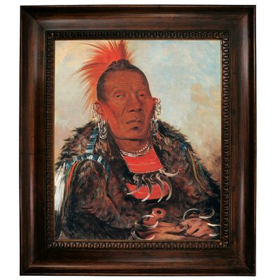 'Wah-ro-noe-sah, The Surrounder, Chief of the Tribe 1832' Framed Graphic Art Print on Canvas Size: 31