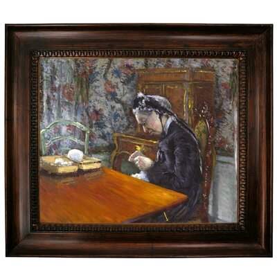 'Mademoiselle Boissiere Knitting 1877' Graphic Art Print on Canvas Size: 10.75