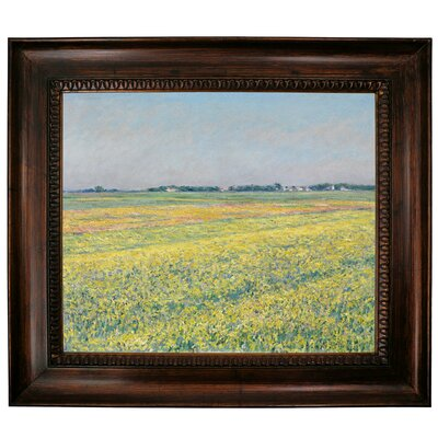 'The Plain of Gennevilliers Yellow Fields 1884' Framed Graphic Art Print on Canvas Size: 27