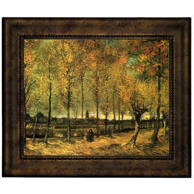 'Lane with Poplars' by Vincent van Gogh Graphic Art Print on Canvas Size: 10.75