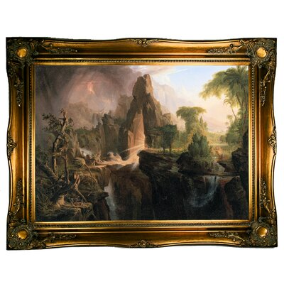 'Expulsion from the Garden of Eden 1828' Framed Graphic Art Print on Canvas