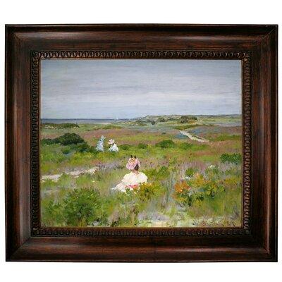 'Landscape Shinnecock Long Island 1896' Framed Graphic Art Print on Canvas Format: Dark Gold Frame, Size: 27