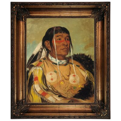 'Sha-co-pay, The Six, Chief of the Plains Ojibwa 1832' Framed Graphic Art Print on Canvas Size: 26.25