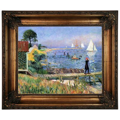 'Bathers at Bellport 1912' Framed Graphic Art Print on Canvas Size: 22.25