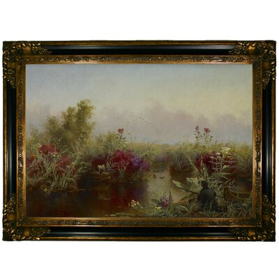 'Duck Hunting 1867' Framed Graphic Art Print on Canvas Size: 24.25