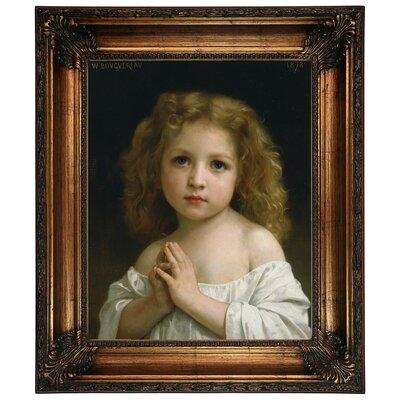 'Little Girl 1878' Framed Graphic Art Print on Canvas Size: 26.25