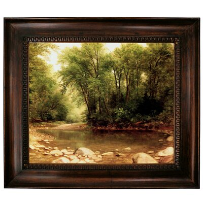 'Landscape 1867' Framed Graphic Art Print on Canvas Format: Dark Gold Frame, Size: 27