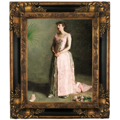 'The Concert Singer 1890' Framed Graphic Art Print on Canvas Size: 19.25
