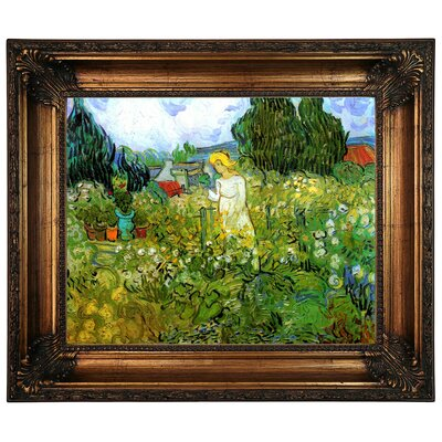 'Marguerite Gachet in the Garden' by Vincent van Gogh Graphic Art Print Framed on Canvas Size: 22.25