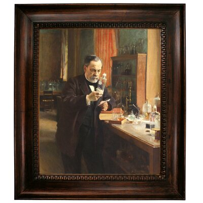 'Portrait of Louis Pasteur in his Laboratory 1885' Framed Graphic Art Print on Canvas Size: 31