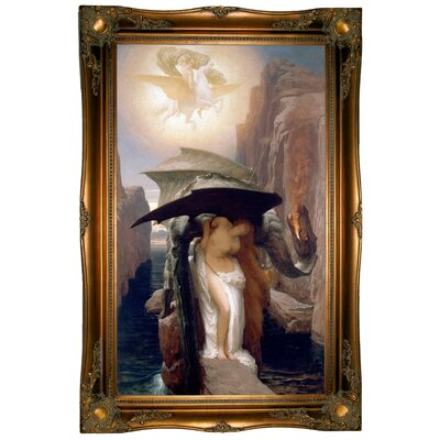 'Perseus and Andromeda 1891' Framed Graphic Art Print on Canvas Size: 37.5
