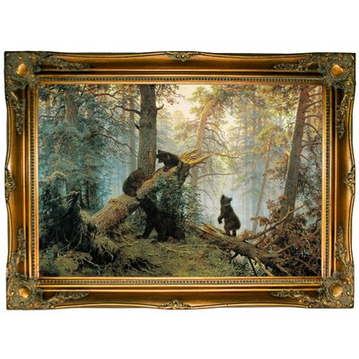 'Morning in a Pine Forest 1889' Framed Graphic Art Print on Canvas