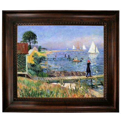 'Bathers at Bellport 1912' Framed Graphic Art Print on Canvas Size: 27