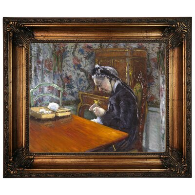 'Mademoiselle Boissiere Knitting 1877' Graphic Art Print on Canvas Size: 22.25