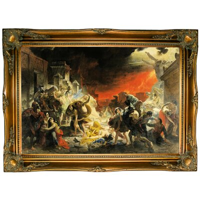 'The Last Day of Pompeii 1830-33' Framed Graphic Art Print on Canvas Size: 24.5