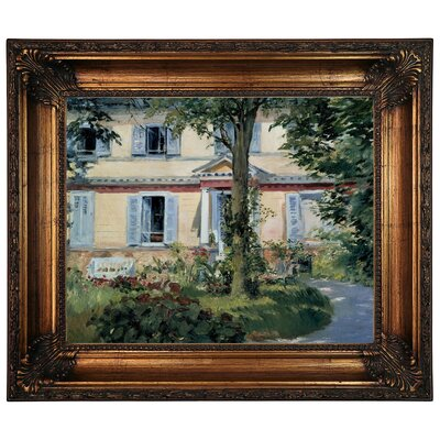 'The House at Rueil 1882' by Edouard Manet Framed Graphic Art Print on Canvas Size: 22.25