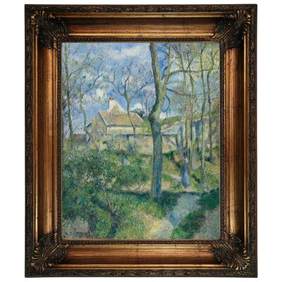 'The Path to Les Pouilleux Pontoise 1881' by Camille Pissarro Framed Graphic Art Print on Canvas Size: 26.25