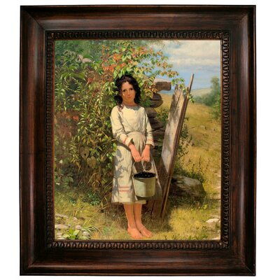 'Blackberry Picking 1875' Framed Graphic Art Print on Canvas Size: 31