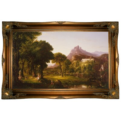 'Dream of Arcadia 1838' Framed Graphic Art Print on Canvas Size: 24.5