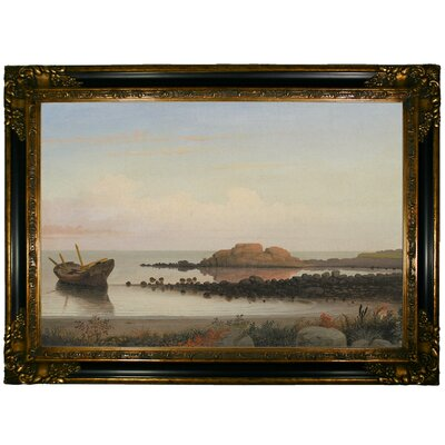 'Braces Rock, Eastern Point 1864' Framed Graphic Art Print on Canvas Size: 24.25