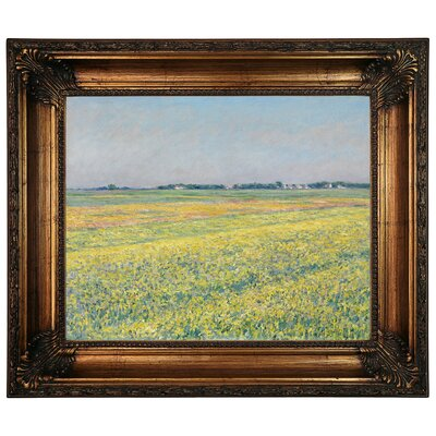 'The Plain of Gennevilliers Yellow Fields 1884' Framed Graphic Art Print on Canvas Size: 22.25