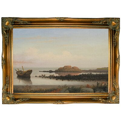 'Braces Rock, Eastern Point 1864' Framed Graphic Art Print on Canvas Size: 24.5