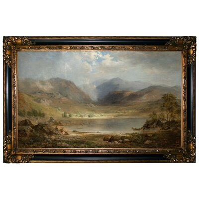 'Loch Long 1867' Framed Graphic Art Print on Canvas Format: Gold/Black Frame