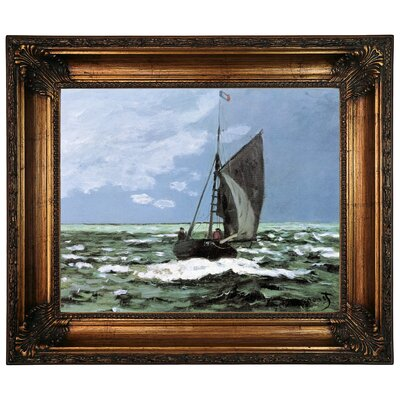 'Storm' by Claude Monet Framed Graphic Art Print on Canvas Size: 22.25