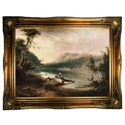 'Delaware Water Gap 1827' Framed Graphic Art Print on Canvas