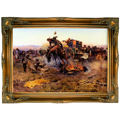 'The Camp Cook's Troubles' Framed Graphic Art Print on Canvas