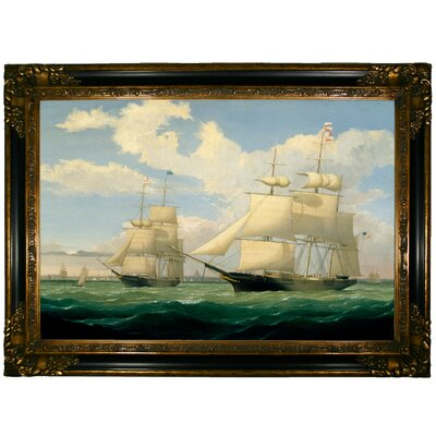 'The Ships Winged Arrow and Southern Cross in Boston Harbor 1853' Graphic Art Print on Canvas Size: 24.25