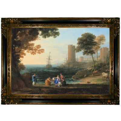 'Coast View with the Abduction of Europa 1645' Framed Graphic Art Print on Canvas Size: 24.25